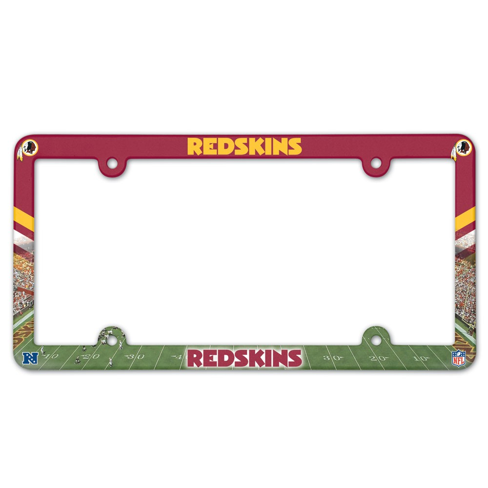 Washington Redskins Official NFL 12 inch x 6 inch  Plastic License Plate Frame by Wincraft