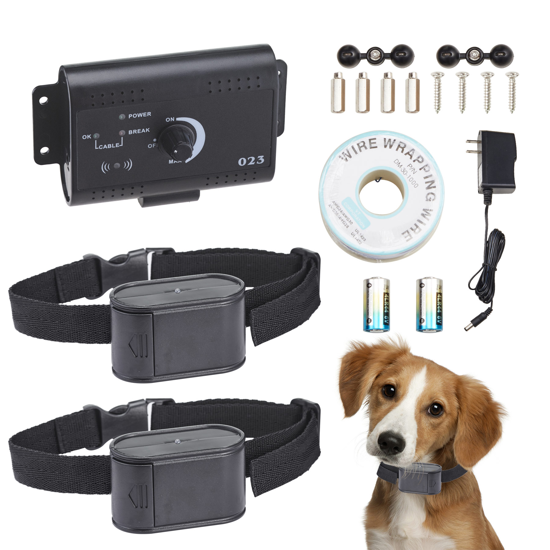 Electric Dog Fence System Underground Shock Collars for 2 Dogs Safe