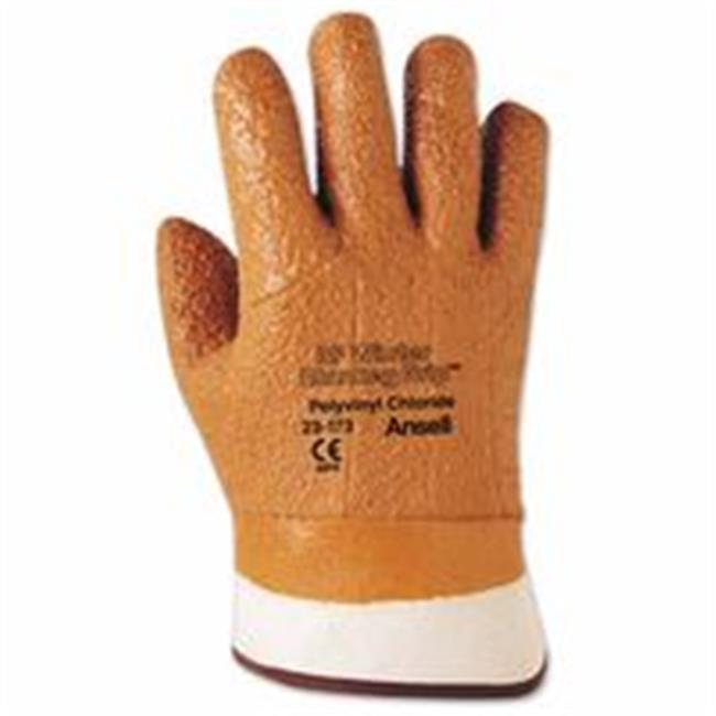 Ansell 012-23-173-10 Vinyl Gloves, 10, Orange