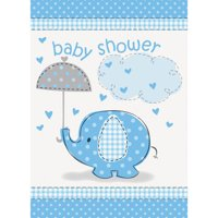 Blue Elephant Baby Shower Invitations with Envelopes, 8ct