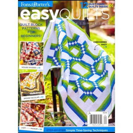 (Easy Quilts Fall 2016 Fons & Porter Quick Simple Fun Quilt Block Patterns)