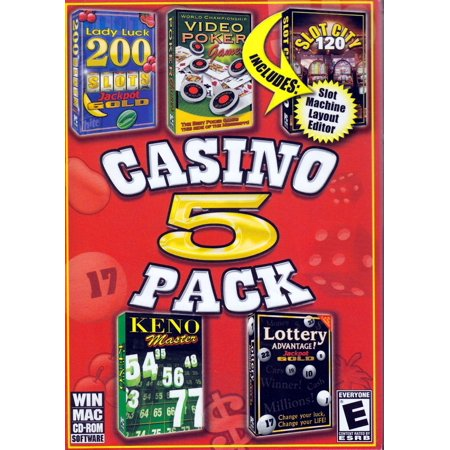 Damaged Box Special - Set of 5 Classic Casino Games on CDRom - Video Poker, Slot City, Keno Master, Jackpot Gold & More Digital Camera Solution Cd Rom