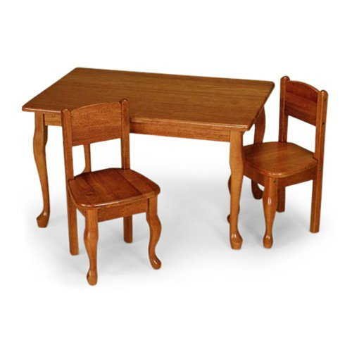 Gift Mark Queen Anne Rectangle Table and Chair Set