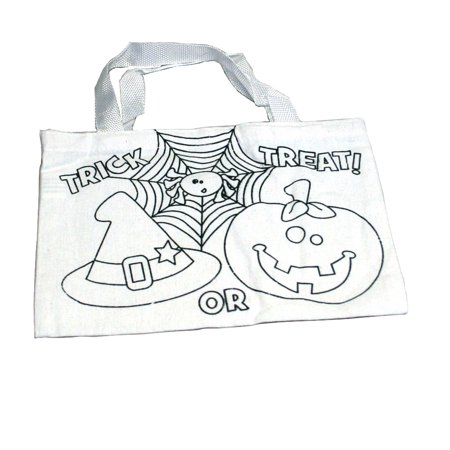 Color Your Own Halloween Tote Bag](Halloween Tote Bag Craft)