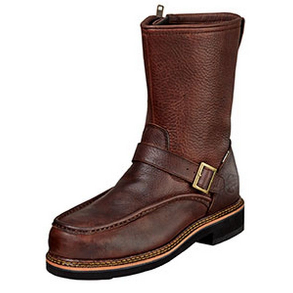 Wood N Stream Outdoor Boots Mens Flyway English Side Zip Red Oak 6012