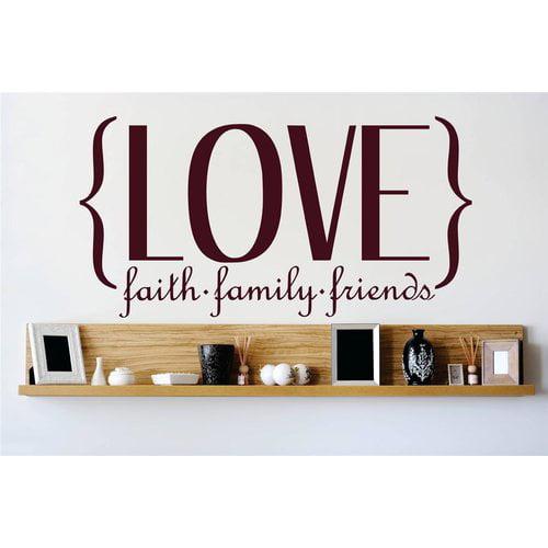 Design With Vinyl Love Faith Family Friends Wall Decal