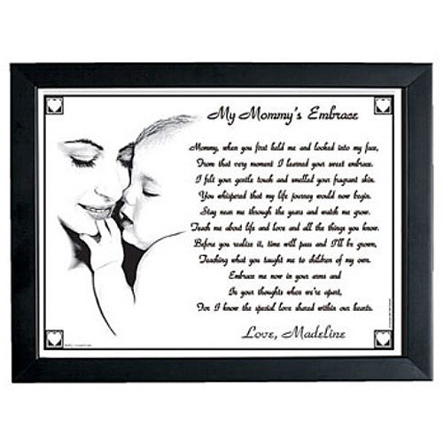 Personalized My Mommy's or Grandma's Embrace Keepsake Print