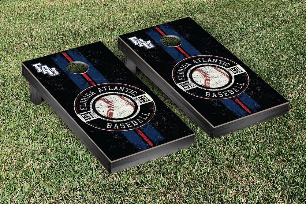 Florida Atlantic FAU Owls Regulation Cornhole Game Set Baseball Version by Victory Tailgate