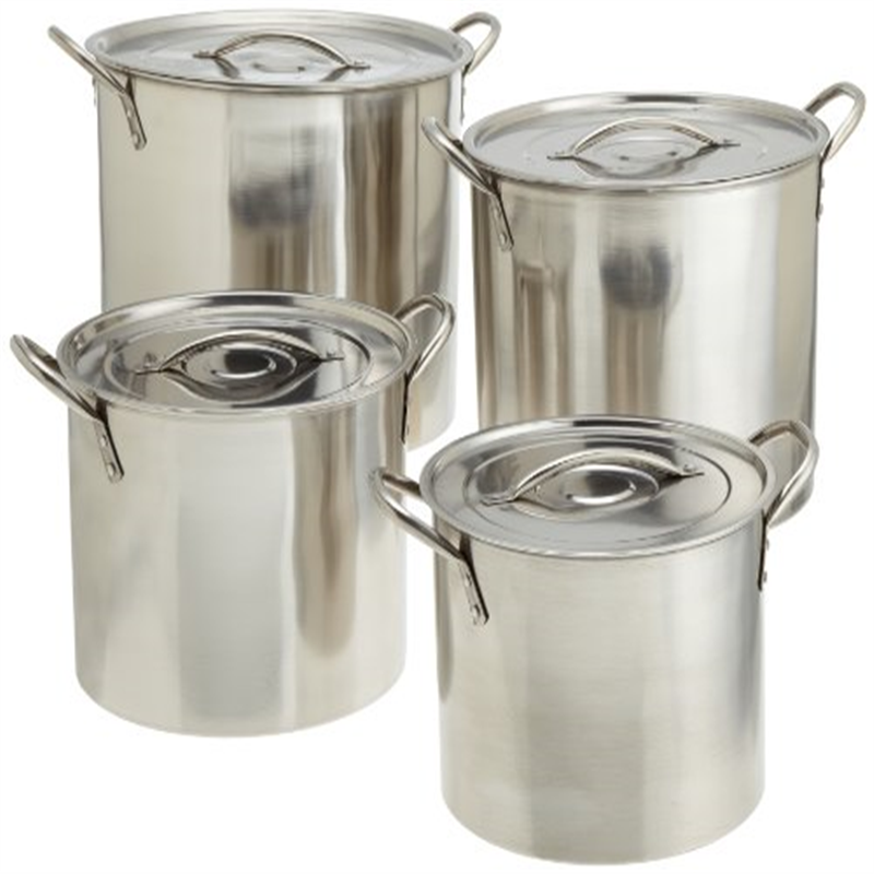 Star Crafts 4 Piece Stainless Steel Stock Pot Set (contains 4 stockpots and 4 lids)