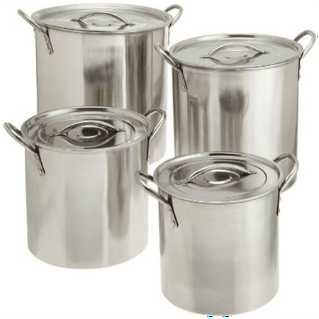 Star Crafts 4 Piece Stainless Steel Stock Pot Set (contains 4 stockpots and 4 lids) Burnt Stainless Steel Pot