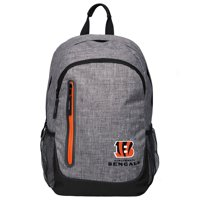Forever Collectibles - Heather Grey Bold Color Backpack, Cincinnati Bengals