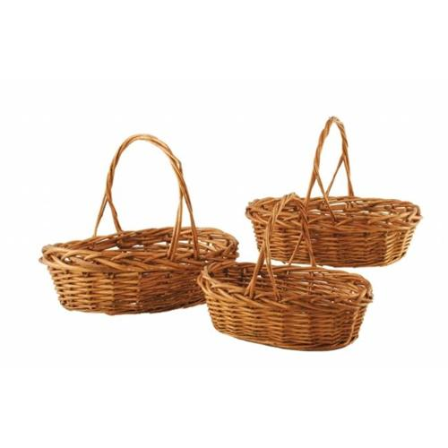 Wald 0397 Set Of 3 Stained Willow Baskets