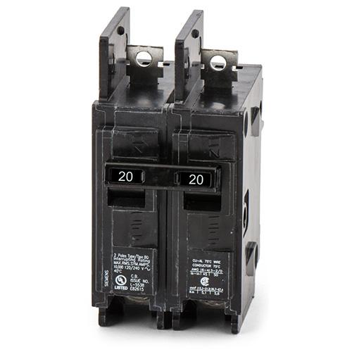 BQ2B020-Siemens/ITE Bolt-On Circuit Breaker 2POLE 20AMP Bolt-On BQ 1PHASE