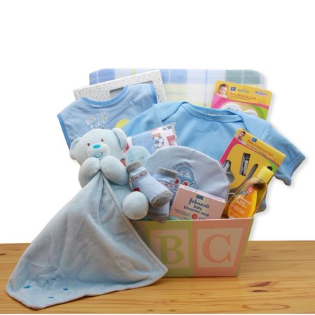 Gift Basket Drop Shipping Easy as ABC New Baby Gift Basket - Blue