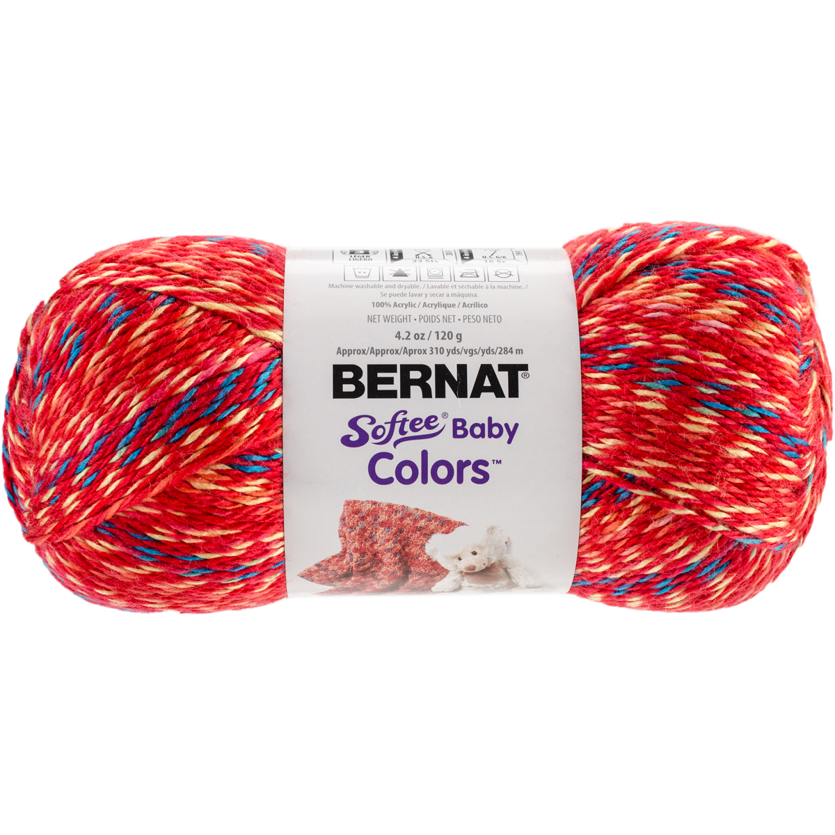 Softee Baby Yarn - Colors-Red Rainbow