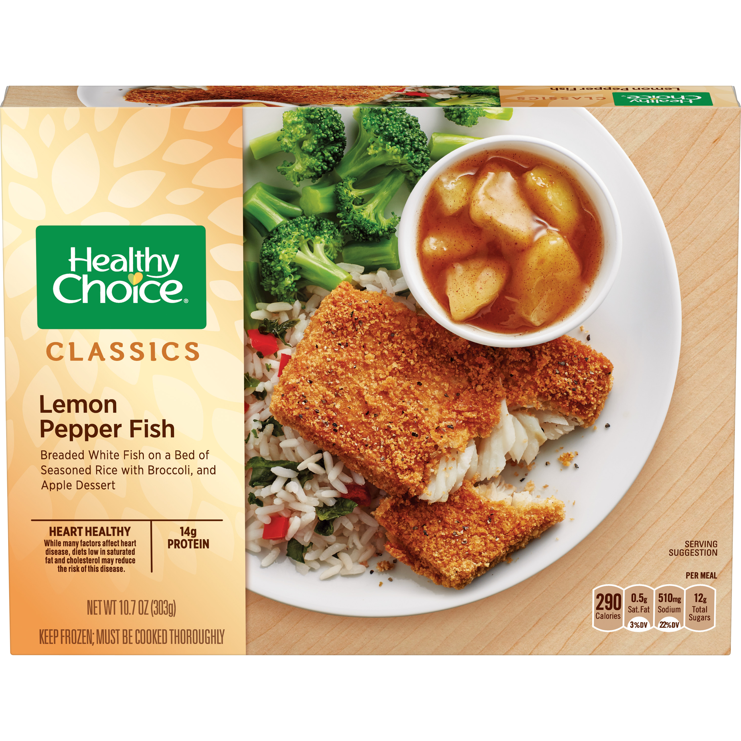 Healthy Choice Classics Complete Meals Frozen Dinner, Lemon Pepper Fish, 10.7 Ounce