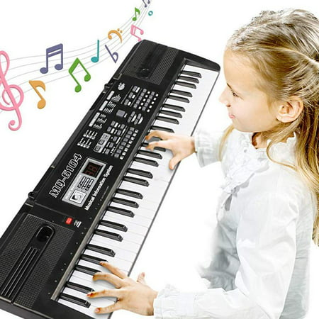 Digital Music Piano Keyboard 61 Key - Portable Electronic Musical Instrument Multi-function - with Microphone Kids Piano Musical Teaching Keyboard Toy Birthday Christmas Festival Gift for