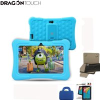 Dragon Touch Newest 7 inch Kids Tablets PC Quad Core 8G ROM Android 6.0 Learning Tablets with Wifi Dual Camera PAD for Children+ Tablet bag+ Screen Protector + keyboard