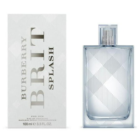 Burberry Brit Splash Cologne for Men, 3.3 Oz