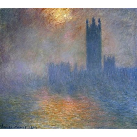 London Parliament  1904  Claude Monet  Oil on canvas Musee dOrsay Paris France Poster Print