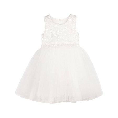 Designer Kidz Little Girls Ivory Lace Scarlet Tutu Flower Girl (Designer Tutu)