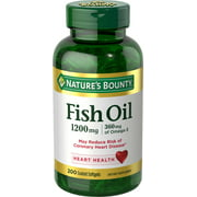 Nature's Bounty Fish Oil Coated Softgels, Odorless, 1200 Mg, 200 Ct