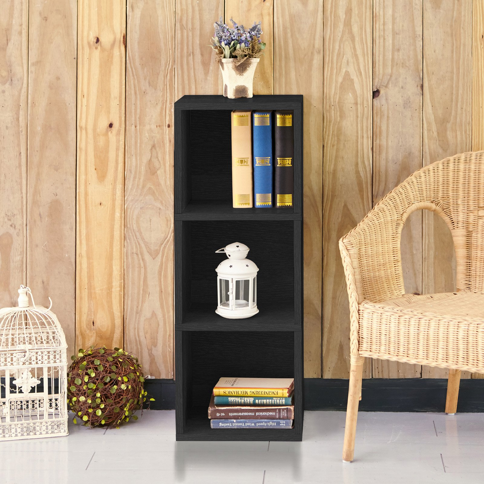 Way Basics Eco-Friendly Wynwood 3 Cube Bookcase and Organizer