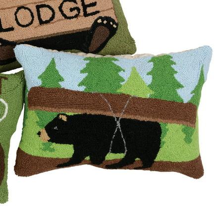 (Canoe Bear Hooked Pillow)
