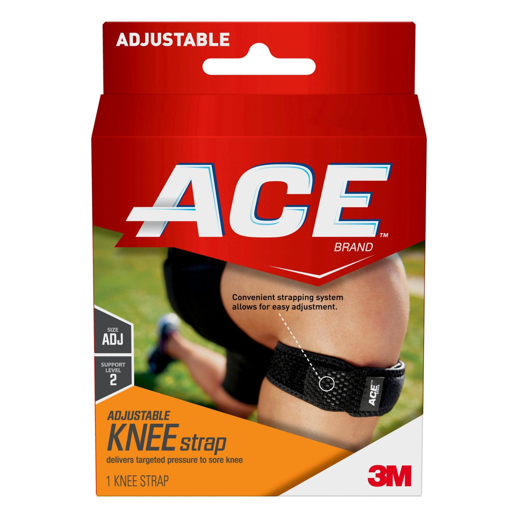 ACE Brand Knee Strap, Adjustable, Black, 1/Pack