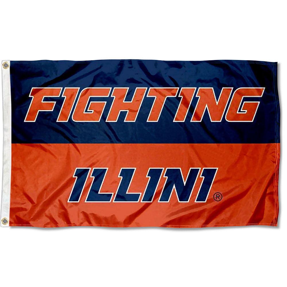 University of Illinois Fighting Illini Flag