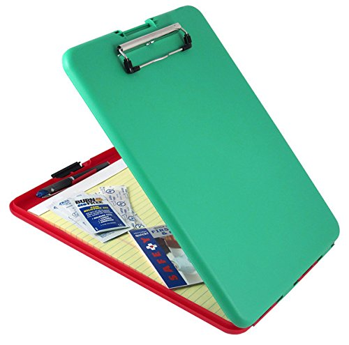"Us-works Slimmate Show2know Safety Organizer - Compartment For Stationary Storage - 9"" X 11.75"" - Polypropylene - Red, Green (00580_40)"