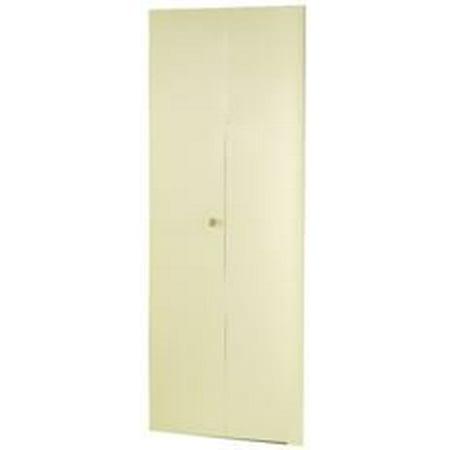DUNBARTON THE FLUSH METAL BI-FOLD DOOR, IVORY, 2 PANEL, 36X96 IN ...