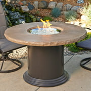 Outdoor GreatRoom Colonial Dining Height Fire Table with Free Burner Cover and Optional Glass Guard