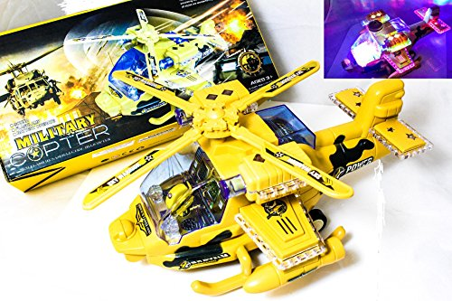 Battery Operated Kid's Bump and Go Toy Helicopter w  Awesome Flashing Lights,Rotating... by Paradise Treasures