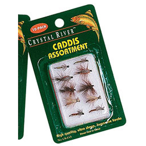Crystal River 10pk Caddis Flies, Assorted