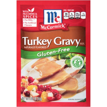 (4 Pack) McCormick Gluten Free Turkey Gravy Mix, 0.88 (Best Store Bought Turkey Gravy)