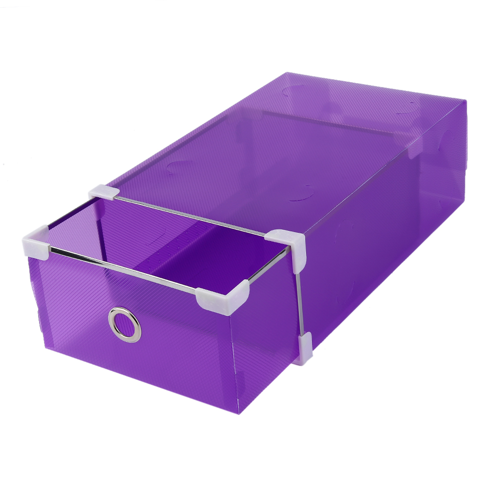 Half Transparent Drawer Style Shoe Box For Both Men And Women Home Supplies