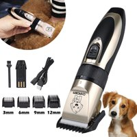 Professional Quiet Electric Pet Trimmer Clipper Shaver Rechargeable Cordless Grooming Kit for Cat Dog Hair Christmas Gifts