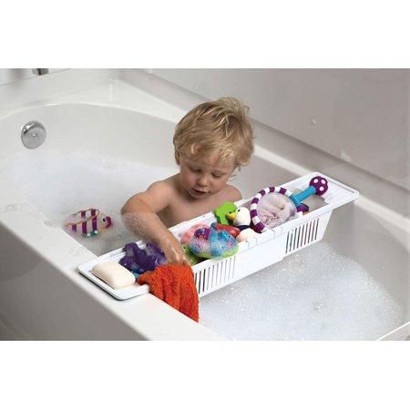 Moaere Collection Kids Bath Toy Organizer and Bathtub Storage Basket Children Tub Shower Toy Organizer Holder  22''X5.5''