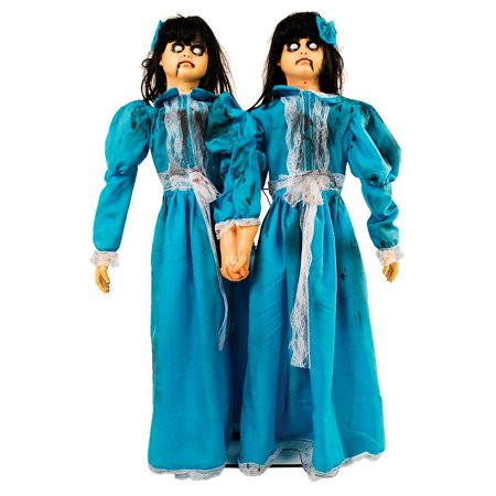 Animated Evil Twins Adult Decoration - Creepy Sound Effects For Halloween
