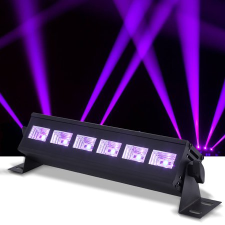 Dilwe 6LED x 3 W LED Light Party Light Black Light Fixtures Effect DJ Bar Stage Lighting Metal Housing