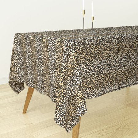 Tablecloth Spots Animal Print Jungle Leopard Cheetah Animal Jungle Cotton Sateen - Animal Print Tablecloth