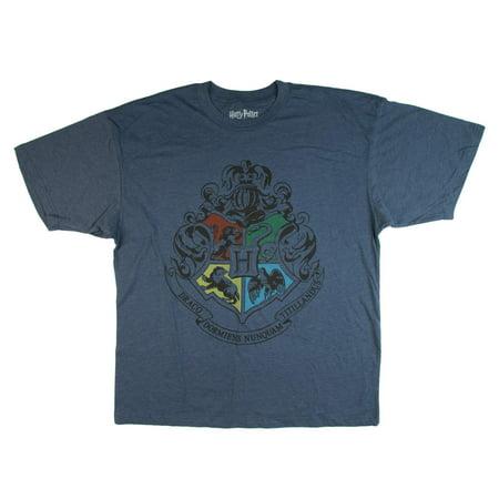 Harry Potter Big Men's Hogwarts Crest Graphic T-Shirt, Up To 6XL - Harry Potter Dressing Up Clothes