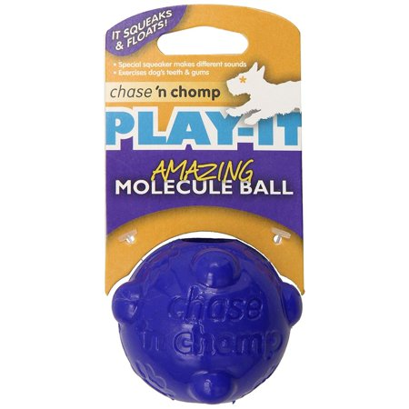 Chase 'n Chomp Amazing Molecule Squeaker Ball Toy for Pets, 2.5-Inch, Squeaker makes different sounds By Chase n (Molecule Ball)