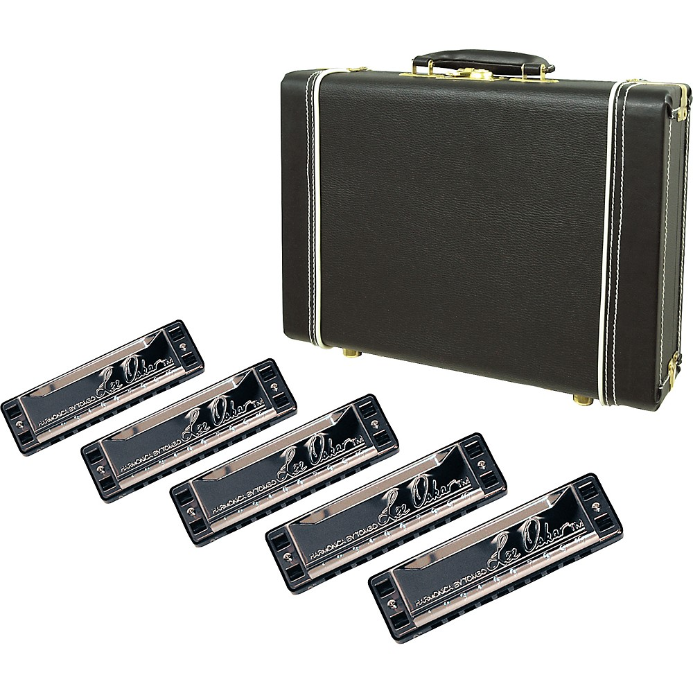 Lee Oskar Harmonica 5-Pack with Case by Lee Oskar