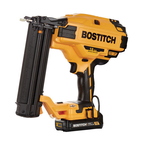 Bostitch BCN680D1 20V MAX 2.0 Ah Cordless Lithium-Ion 18 Gauge Brad Nailer Kit by