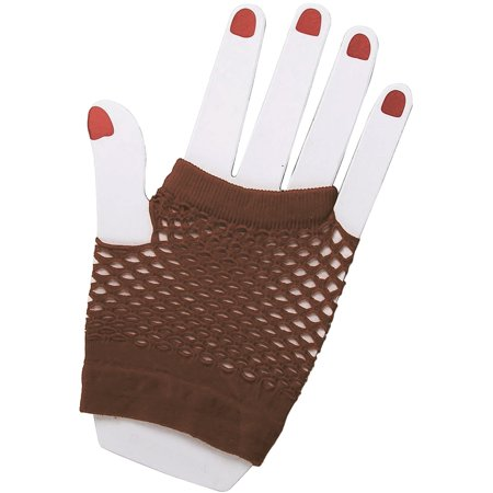 Adults Brown Steampunk Pirate Cowboy Costume Fingerless Fishnet Gloves](Cowboy Costume Horse)