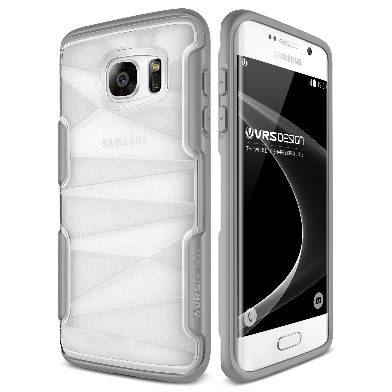Samsung Galaxy S7 Edge Case Cover | Slim Clear Protection | VRS Design Shine Guard for Samsung Galaxy S7 Edge