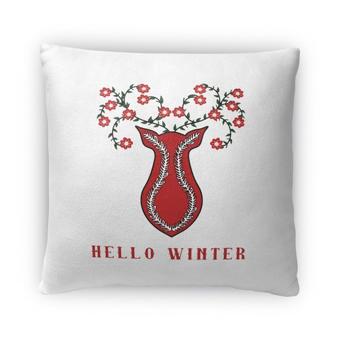 The Holiday Aisle Hello Winter Throw Pillow