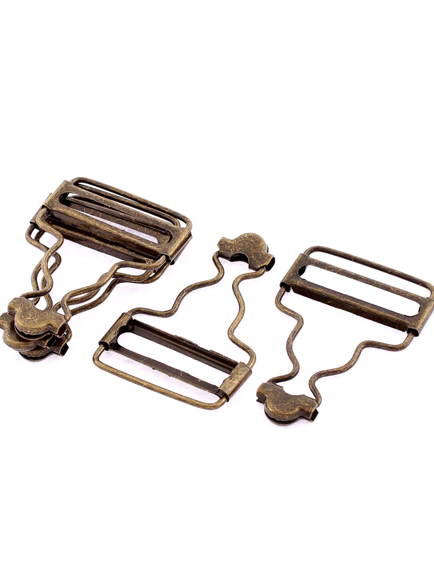 32mm Inside Width Dungaree Fasteners Clip Suspender Buckles 5Pcs